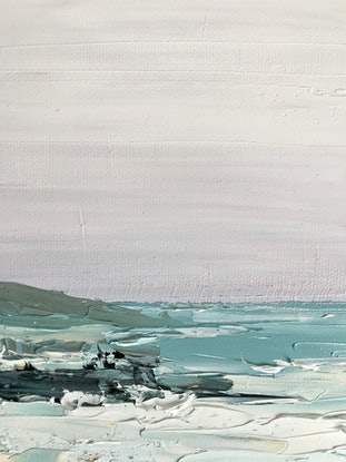 (CreativeWork) Hills Beach North by Michelle Keighley. Oil Paint. Shop online at Bluethumb.