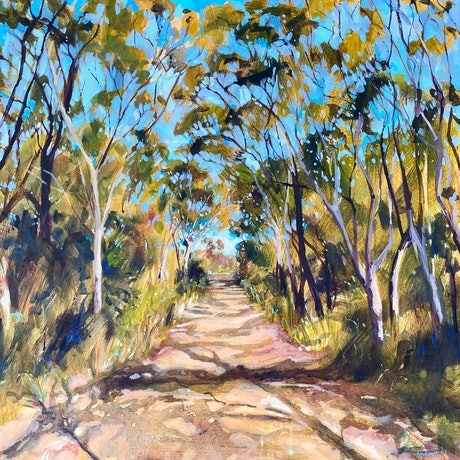 (CreativeWork) The only way out is through  by Kate Gradwell. Acrylic Paint. Shop online at Bluethumb.