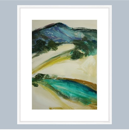 (CreativeWork) DESTINED by Karen McPhee. Acrylic Paint. Shop online at Bluethumb.