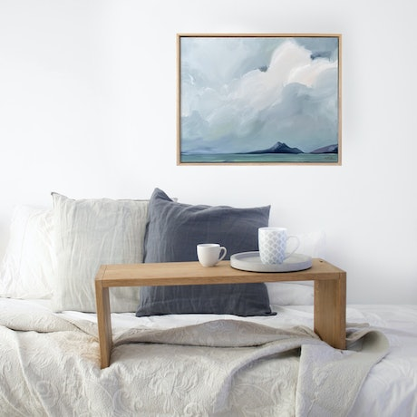 (CreativeWork) Shoal Bay Storm Clouds by Marnie McKnight. Oil Paint. Shop online at Bluethumb.
