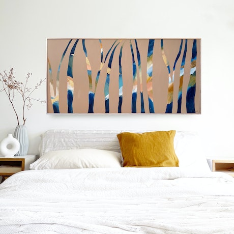 (CreativeWork) Forest Trail by Marnie McKnight. Acrylic Paint. Shop online at Bluethumb.
