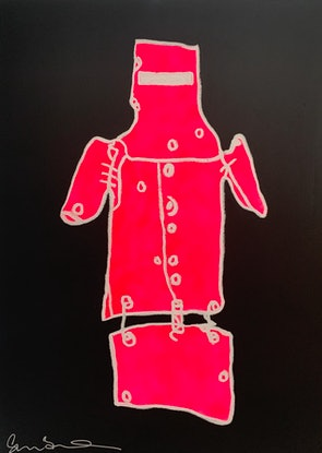 (CreativeWork) Ned Kelly FLURO by Shane Bowden. Mixed Media. Shop online at Bluethumb.