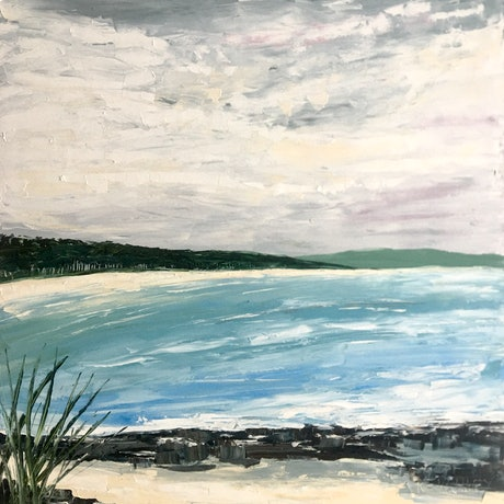 (CreativeWork) The Bay by Michelle Keighley. Oil Paint. Shop online at Bluethumb.