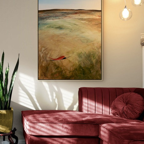 (CreativeWork) What's Left Behind 101 X 76cm Large Textured Abstract Landscape by Tania Chanter. Acrylic Paint. Shop online at Bluethumb.