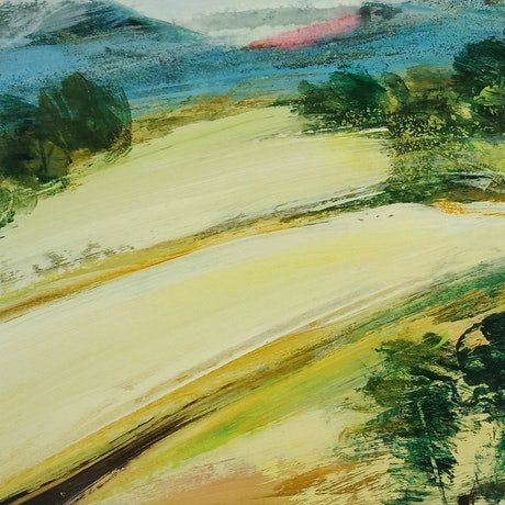 (CreativeWork) GOLD FIELDS by Karen McPhee. Acrylic Paint. Shop online at Bluethumb.