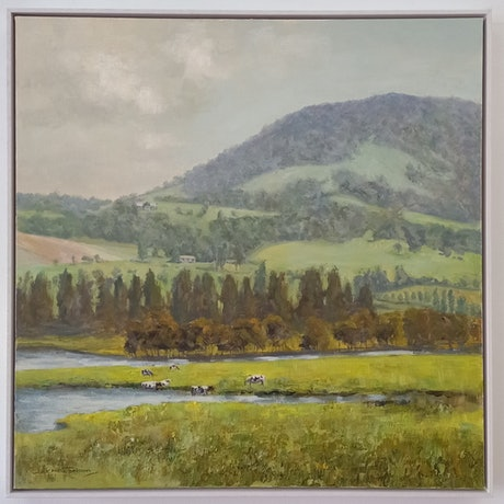 (CreativeWork) Gerringong NSW South Coast (1136) by Marc Poisson. Oil. Shop online at Bluethumb.