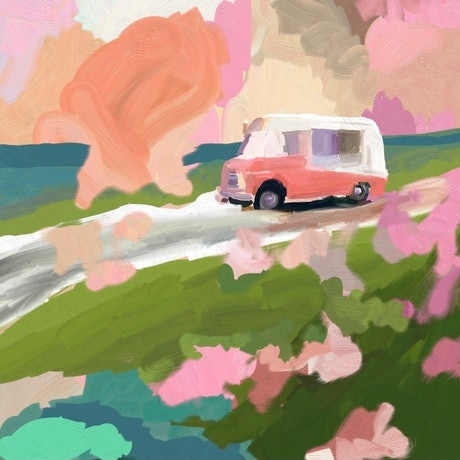 (CreativeWork) Mr Whippy - Beach Paths Series  Ed. 3 of 50 by Pip Phelps. Print. Shop online at Bluethumb.