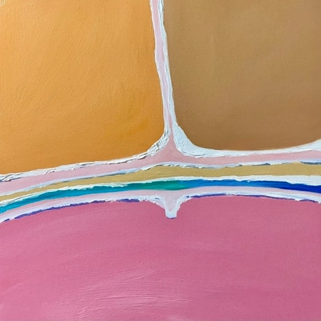 (CreativeWork) Hutt Lagoon 2   by Pip Phelps. Acrylic Paint. Shop online at Bluethumb.