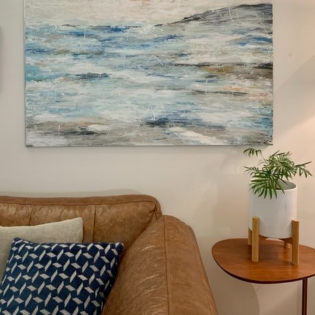 (CreativeWork) Over the Horizon  by Ginsten _. Acrylic Paint. Shop online at Bluethumb.