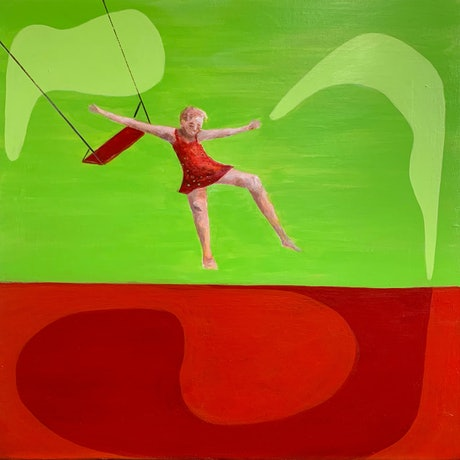 (CreativeWork) Jump by Linden Abbot. Acrylic Paint. Shop online at Bluethumb.