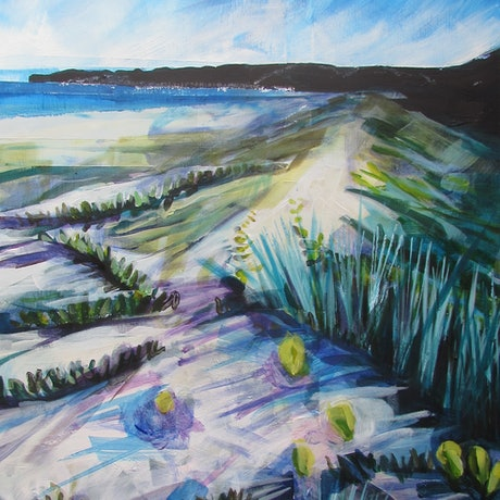 (CreativeWork) Dune Afternoon II by Helen Evans. Acrylic Paint. Shop online at Bluethumb.