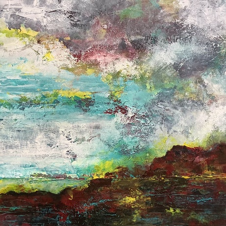 (CreativeWork) Unknown Land by Magdalena Knight. Acrylic Paint. Shop online at Bluethumb.