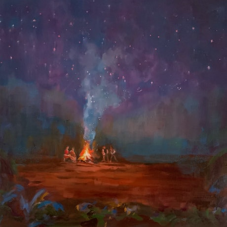 (CreativeWork) One Night (A) by Sara Roberts. Oil Paint. Shop online at Bluethumb.