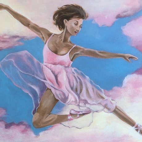 (CreativeWork) Lucid Dancer by Kathryn Johnston. Acrylic Paint. Shop online at Bluethumb.