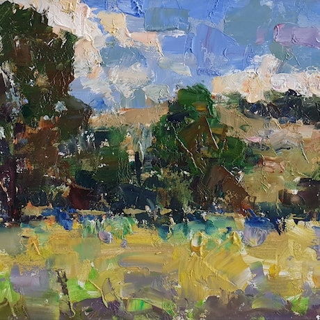 (CreativeWork) Landscape in Mount Pleasant by Minhan Cho. Oil Paint. Shop online at Bluethumb.