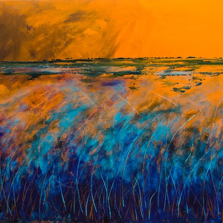 (CreativeWork) Spirits in The Grass by Scott Jackson. Acrylic. Shop online at Bluethumb.