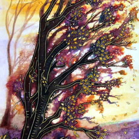 (CreativeWork) Autumn Breeze (Framed)  by Linda Callaghan. Mixed Media. Shop online at Bluethumb.