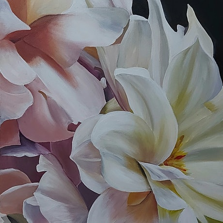 (CreativeWork) SPRING RAPTURE by Lynette Brown. Acrylic Paint. Shop online at Bluethumb.
