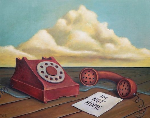 (CreativeWork) I'm not home by Tank .. Acrylic. Shop online at Bluethumb.