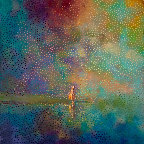 (CreativeWork) Reflections (A) by Sara Roberts. Oil Paint. Shop online at Bluethumb.