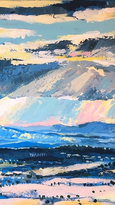 (CreativeWork) The Journey  by Valentyna Crane. Acrylic. Shop online at Bluethumb.