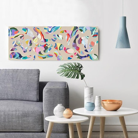 (CreativeWork) Here and Now by Alina Hayes. Acrylic Paint. Shop online at Bluethumb.