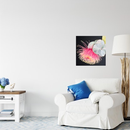 (CreativeWork) A Happy Heart on canvas Ed. 5 of 100 by Hayley Kruger. Reproduction Print. Shop online at Bluethumb.