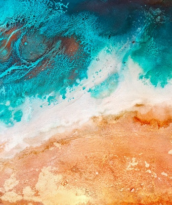 (CreativeWork) Ocean Road II by Emiley Rose. Other Media. Shop online at Bluethumb.