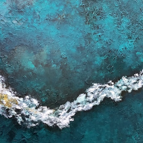 (CreativeWork) Sea Wave by Magdalena Knight. Acrylic Paint. Shop online at Bluethumb.