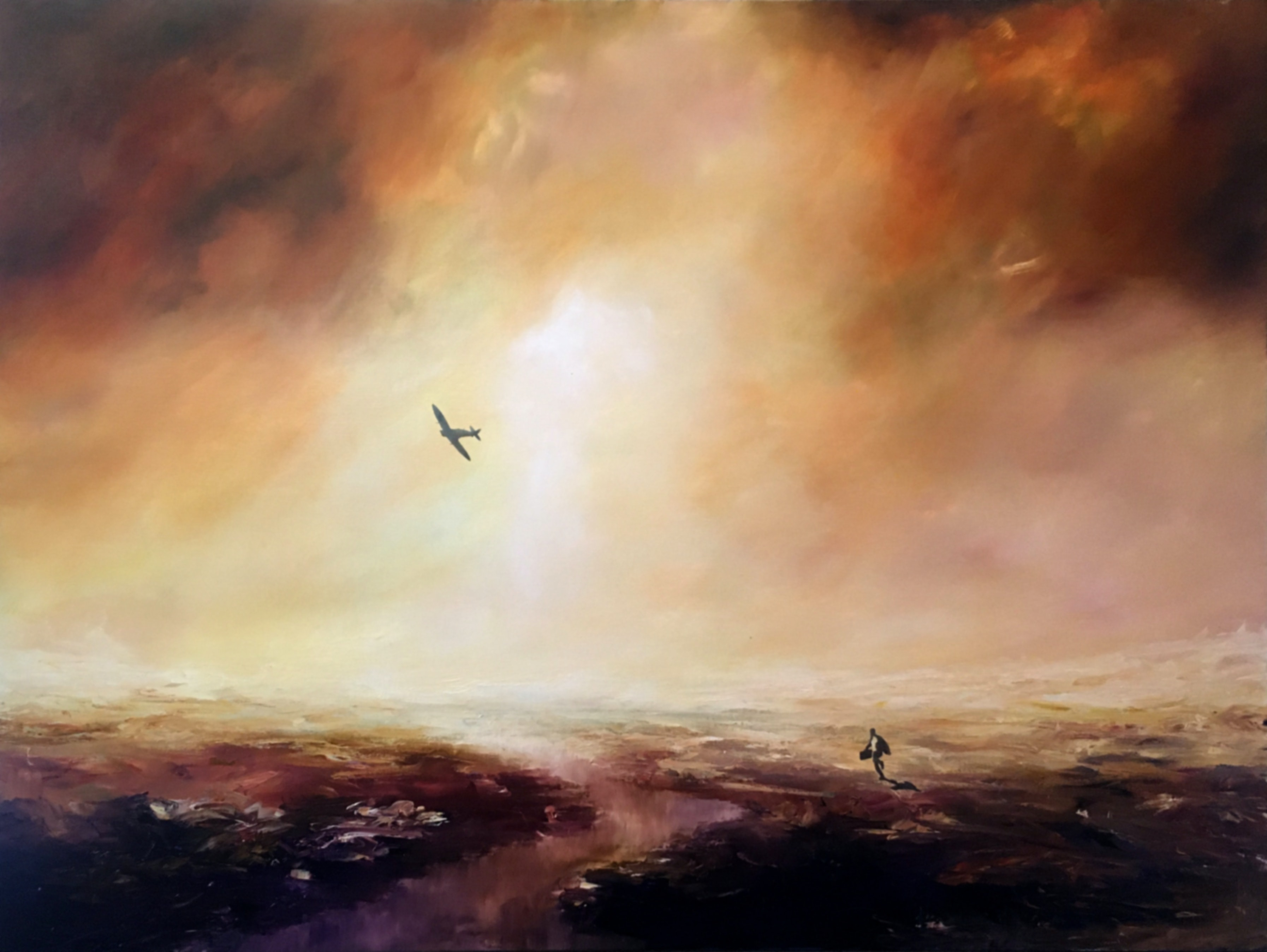 (CreativeWork) The Escape by James Robertson. Oil Paint. Shop online at Bluethumb.