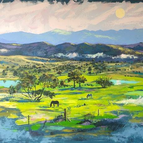 (CreativeWork) On the way home  by Valentyna Crane. Acrylic Paint. Shop online at Bluethumb.