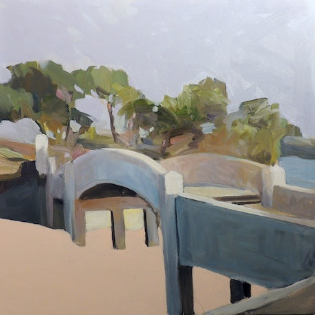 (CreativeWork) Balmoral Beach Rocky Point by Ray Saunderson. Mixed Media. Shop online at Bluethumb.