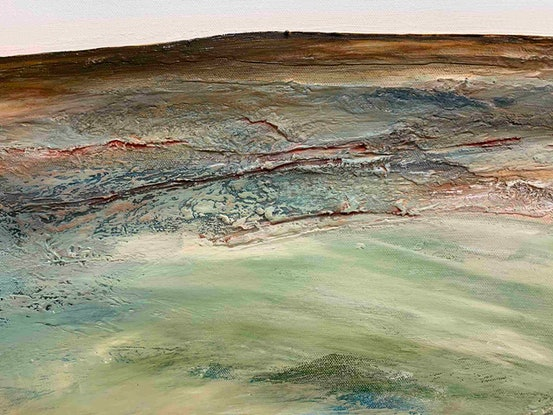 (CreativeWork) What's Left Behind 101 X 76cm Large Textured Abstract Landscape by Tania Chanter. Acrylic. Shop online at Bluethumb.