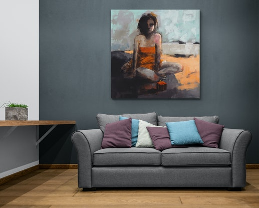 (CreativeWork) Birthday Girl by Steven Haas. Acrylic Paint. Shop online at Bluethumb.