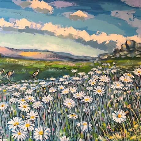 (CreativeWork) Spring in Kosciuszko National Park  by Valentyna Crane. Acrylic Paint. Shop online at Bluethumb.