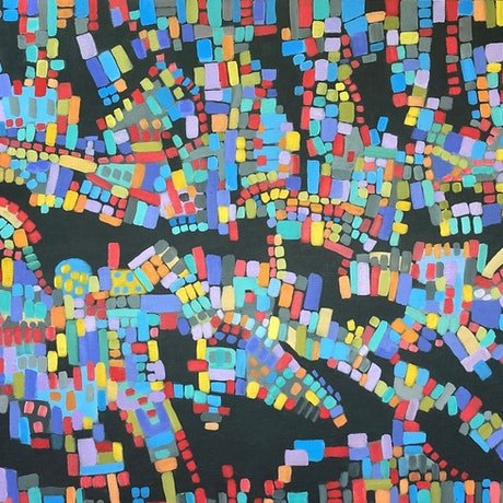 (CreativeWork) Hotspots by natalie green. Acrylic Paint. Shop online at Bluethumb.