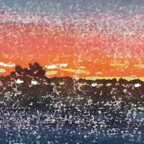 (CreativeWork) Brilliant Sunrise by MARION NELSON. Other Media. Shop online at Bluethumb.