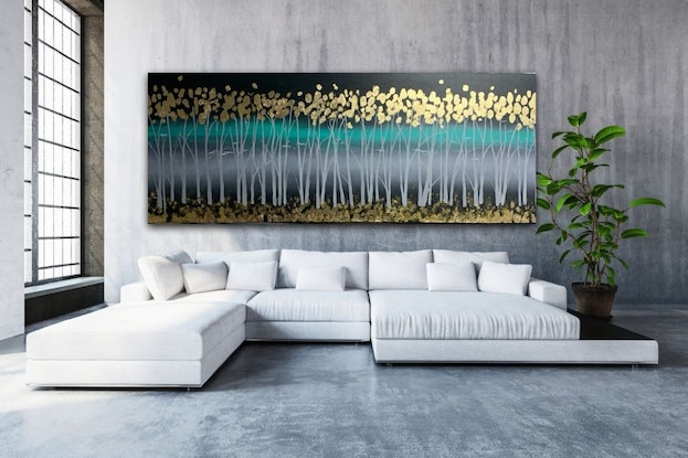 (CreativeWork) Golden Night by Tom Roso. Acrylic. Shop online at Bluethumb.