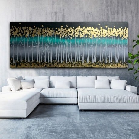 (CreativeWork) Golden Night by Tom Roso. Acrylic Paint. Shop online at Bluethumb.