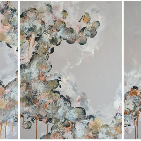 (CreativeWork) Forever And A Day - triptych  by Emily Lauro. Acrylic. Shop online at Bluethumb.