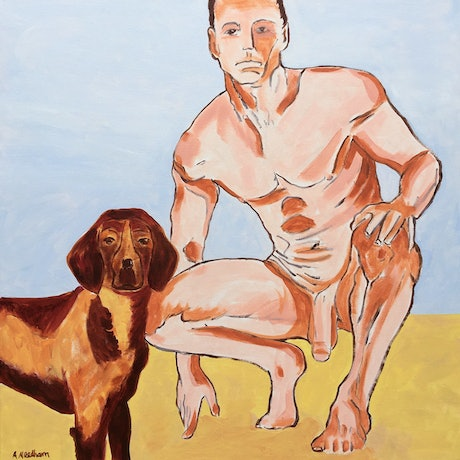 (CreativeWork) Polaroid of Max on the Beach by Joy Collection. Acrylic Paint. Shop online at Bluethumb.