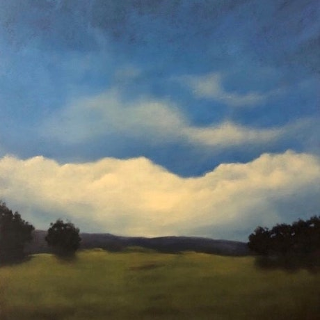 (CreativeWork) New Day by Carolyn Stephens. Acrylic. Shop online at Bluethumb.