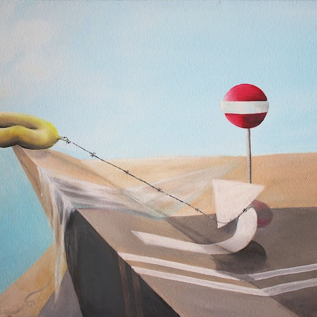 (CreativeWork) No Entry by Vanessa Stefanova. Oil Paint. Shop online at Bluethumb.