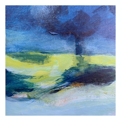 (CreativeWork) Evening Walk by Linden Abbot. Acrylic Paint. Shop online at Bluethumb.