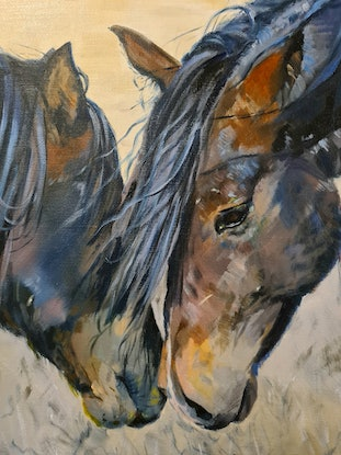 (CreativeWork) First There Was The Word by Jo S. Stacey. Oil Paint. Shop online at Bluethumb.