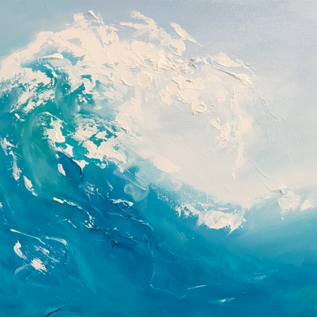 (CreativeWork) A Little Wave by Meredith Howse. Oil Paint. Shop online at Bluethumb.