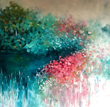 (CreativeWork) Impressionism  - Beautiful Life by Maria Cross. Oil Paint. Shop online at Bluethumb.