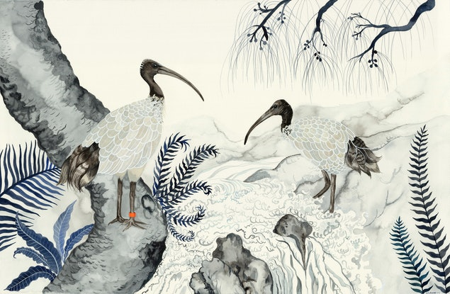 (CreativeWork) Bin Chickens - Once We Were Sacred 2  Ed. 45 of 50 by Sally Browne. Print. Shop online at Bluethumb.