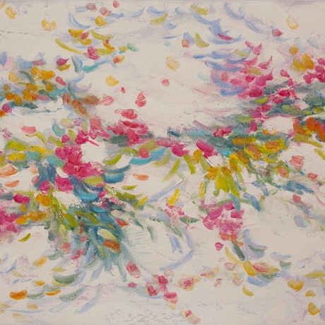 (CreativeWork) Flower Patterns by Michael Cartwright. Oil Paint. Shop online at Bluethumb.
