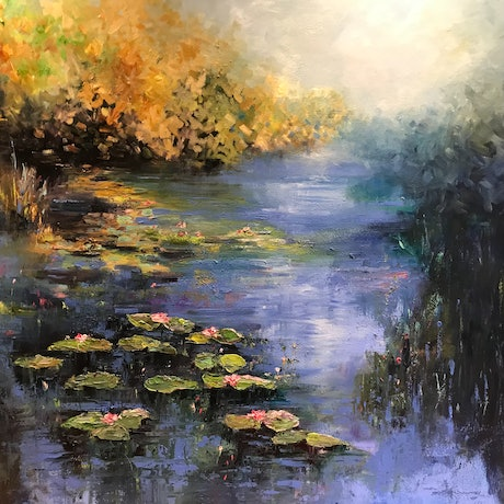 (CreativeWork) Impressionism - Beauty in Bloom  by Maria Cross. Oil Paint. Shop online at Bluethumb.